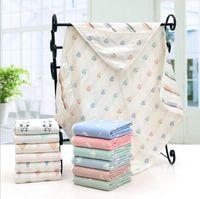 Wholesale Cotton Thermal Blankets - Baby Muslin Swaddle Newborn Cartoon Blankets Kids Stripe Nursery Bedding Toddler Animal Warm Quilt Infant Cotton Bathing Towel Wrap L4