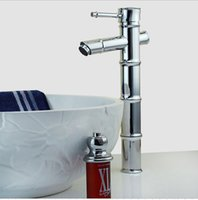 Wholesale China Taps - Bamboo Basin Faucet Bamboo Vessel brass tap Bathroom archaize Faucet matched with china art basin perfectly