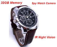 Wholesale Hidden Watch Camera 16gb - 2017 HD 1080P Spy Watch Camera Replaceable Battery Night Vision Waterproof Hidden Video Cam DVR Support 16GB 32GB TF Card