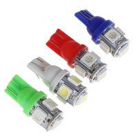 Wholesale Super Led W5w - T10 Super Bright 5 SMD 5050 LED Auto Wedge Lamp 194 168 2825 W5W LED Car Marker Light Parking Bulb 12V MOT_206
