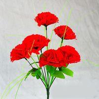 buquê de flores de cravo venda por atacado-Flor falsificada decorativa atacado alta simulado artificial 7 cravos buquê de flores de seda casa sala de estar festa de casamento gif
