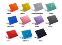 13 inç lastik kaplı macbook çantası toptan satış-Mat Buzlu Sert Plastik Koruyucu Kılıf için 11 12 13 15 inç Macbook Hava Pro Retina Dizüstü Kristal Lastik Koruyucu Kapak Kabuk