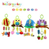 Wholesale Instruments For Children Bells - Wholesale- Rattles baby bell baby stuffed owl like a fish 4 lathe hanging toy musical instruments for children to sleep Wheelchairs