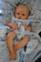 Wholesale reborn vinyl kit - 20-22inch Very soft silicone vinyl reborn doll kit lifelike real touch unpainted
