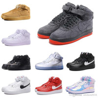 Wholesale New HIGH SP Men and Women Skateboarding Shoes Fash shipping Fashion lover high top sport supreme Forceing wheat One Skate shoes
