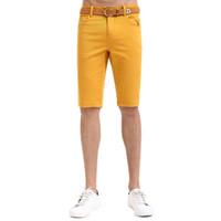 spandex de algodón para la venta al por mayor-Al por mayor-Lesmart Mens Summer Short Pants Nueva llegada Solid Elastic Cotton Spandex Moda Casual venta caliente Fifth Pants