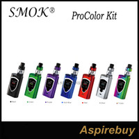 Wholesale Big Designs - SMOK ProColor Kit 225W ProColor Mod with 5ML TFV8 Big Baby Tank Standard Edition OLED Display Screen Shield Shaped Design 100% Original