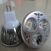 Wholesale Mr16 Led Blue 12v - Free shipping led spot light 9W (3X3W) GU10 E27 MR 16 12V Downlight Lamp Bulb Warm Cool White