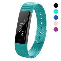 Wholesale Sleep Alert - ID115 Fitness Smart Bracelet Wrist Band SmartBand Activity Pedometer Tracker Sleep Monitor Call SMS Alert Wrist Sense Touch Screen Switch