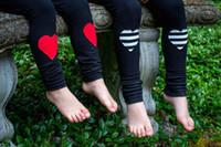 colantes de criança venda por atacado-Ins infantil meninas amor coração glacê leggings plissado bebê calças para meninas 0-4years leggings crianças calças justas roupas