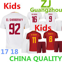 ef27f8e70 Soccer Short Polyester 2017 2018 kids Kits top quality child soccer Jersey  TOTTI TROMERS DZEKO DE