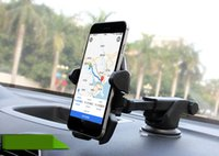 Wholesale Pl Car - One Touch Car Mount Long Neck Universal phone holder Windshield Dashboard Mobile Phone Holder Strong Suction for Samsung S8 Plus iPhone 7 pl