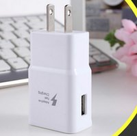 Wholesale Fast Wall Charger V A EU US Plug Travel Adapter For Samsung Note S6 S7 Edge S8 Plus