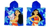 Wholesale Terry Bath Robes For Kids - Kids Robes Moana Cloak Towels Boys Girls Cartoon Pattern Bath Towel Kids Cartoon Printed Towels For Swimming 60*120cm