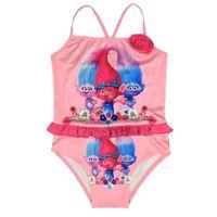 Wholesale Wholesale Baby Girl Bathers - Baby Girls Swimswear Summer Kids One Piece Swimsuit Trolls Children Bathing Suit Kid Girls Bikini Swim Suit Bathers