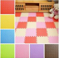 Wholesale Eva Foam Mats - HOT Baby Mat EVA Foam Interlocking Exercise Gym Floor Play Mats Protective Tile Flooring Carpets 30X30 cm JC232