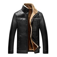 Wholesale Mens Leather Down Coat - Jacket men casual winter thicken warm leather jackets male parka mens jackets and coats winter down coat plus size 4XL