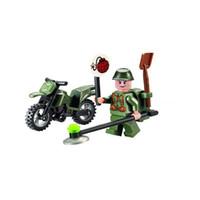 Wholesale Enlighten Military - 10pcs set ENLIGHTEN City Series Military Demining Motorcycle Building Blocks Sets Bricks Model Kids Toys Chidlren Gift