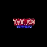 Wholesale tattoo neon signs resale online - New TATTOO OPEN neon sign real glass tube bar club room handmade in the wall game room