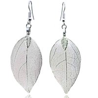 Fashion Bohemian Style Long Tassel Boucles d'oreilles Unique Leaf Big Earrings For Women Cadeau Vintage Jewelry jy