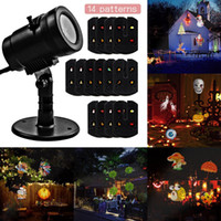 Wholesale Spotlight For Wedding - New LED Projector Light 14 Pattern Waterproof Landscape Indoor Wall Landscape Spotlight Projection Lighting Lamp for Christmas Wedding Party