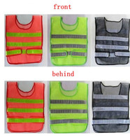 Wholesale Work Clothes Wholesale - Safety Clothing Reflective Vest Hollow grid vest high visibility Warning safety working Construction Traffic vest KKA1464