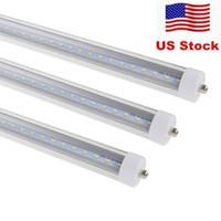 ledli tekli pin floresan lamba toptan satış-ABD'de + 8 ayaklar led 8ft tek pin t8 FA8 Tek Pin LED Tüp Işıkları 45 W 4800Lm LED Floresan Tüp Lambaları 85-265 V