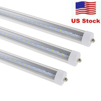 ingrosso tubo singolo perno 8ft-Disponibile negli Stati Uniti + 8 piedi led 8ft single pin t8 FA8 LED a singolo pin luci 45W 4800Lm LED lampade a tubi fluorescenti 85-265V