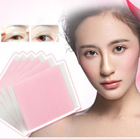 Wholesale double eye sticker - Invisible Fiber Double Side Adhesive Eyelid Stickers Eyelid Past Eyes Tapes Beauty Cosmetic Makeup Tools Free Shiping ZA2829