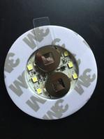 şişe üst ışıkları toptan satış-Toptan-20 adet / grup Süper parlak 3mm 6LED Flaş Ampul Şişe Kupası Mat Coaster LED glorifier kulüpleri Barlar Için Mini kızdırma sopa Parti-Beyaz
