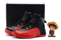 Wholesale Free Games Box - (New In Box)Free Shiping Cheap Children Athletic Retro Boys And Girls Black Red Flu Game 12 XII Sneakers Kids Basketball Shoes