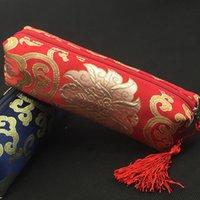 ingrosso matite nappe di seta-Borsa impermeabile della borsa della nappa del broccato di seta