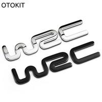 3d etiket toyota toptan satış-Alaşım WRC 3D Metal Oto Araba Rozeti Amblem Sticker Toyota Yaris için Ford Fiat Citroen Audi SUZUKI Volkswagen VW Golf Cruze