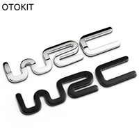 Wholesale Sticker Citroen - Alloy WRC 3D Metal Auto Car Badge Emblem Sticker for Toyota Yaris Ford Fiat Citroen Audi SUZUKI Volkswagen VW Golf Cruze