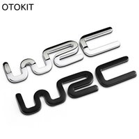 ingrosso 3d adesivo toyota-Alloy WRC 3D Metallo Auto Car Badge Emblem Sticker per Toyota Yaris Ford Fiat Citroen Audi SUZUKI Volkswagen VW Golf Cruze