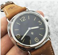 promoções de relógio de pulso venda por atacado-Promoção de edição limitada assistir PAM00672 Top marca de luxo relógio homens moda relógios de pulso mecânico Hand-Winding Assista Mens Natural Leather