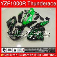 Wholesale Yzf Thunderace - Body For YAMAHA Thunderace green flames YZF1000R 96 97 98 99 00 01 07 84HM3 YZF-1000R YZF 1000R 1996 1997 1998 1999 2000 2001 2007 Fairing