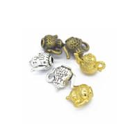 Wholesale Teapot Necklaces - Wholesale 16*13mm 60pcs Vintage Charms Teapot Pendant gold plated Fit Bracelets Necklace DIY Metal Jewelry Making CN383