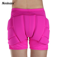 Wholesale Ice Skate Protectors - Wholesale- 11 Colors Figure Skating Ice Skating Hips Protector Pad Sports Safety Supporter Protective Mat Protection Customized Size