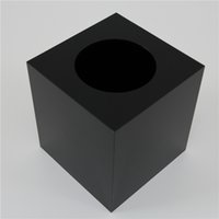 Wholesale Towel Ideas - Wholesale- Tall tissue box   high-grade black acrylic storage box   Desktop 2015 square towel tube rolls for new ideas listed