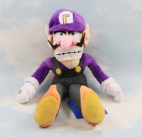 Wholesale Super Mario Figures Waluigi - 2 Style 20cm  28cm Super Mario Wario & Waluigi Plush Doll Stuffed Animals Toy For Child Gifts