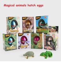 Wholesale Egg Toys - New Children's Funny Toy Box Large Dinosaur Eggs Children Education Toys Water Expansion 7 styles animal Hatching Egg animal kids toy