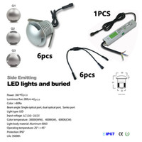 Wholesale 6pcs set CREE Led Floor Decking Lights with CE IP67 driver W W outdoor recessed lighting IP67 Waterproof garden light led Spot encastrable