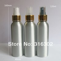 Wholesale Wholesale 4oz Glass Bottles - 12 x 4OZ Empty Aluminum Parfum Atomizer 120ml Metal Perfume and Fragrance Bottle