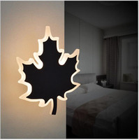 Wholesale Reading Lights For Bedside - modern minimalist LED wall light leaf wall sconces Reading Lights Fixture for Pathway Staircase Bedroom Bedside lighting fixtures