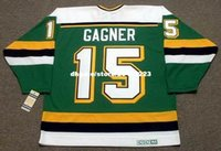 Compra Maglie Vintage Minnesota-commercio all'ingrosso personalizzato Throwback Mens DAVE GAGNER Minnesota North Stars 1989 CCM Vintage Away Cheap Retro Hockey Jersey