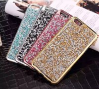 Glitter Diamond TPU Case para Iphone 6 7 mais Cases Crystal Luxury Glitter Bling Flash Power Chrome Soft Case
