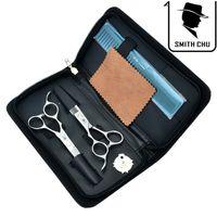 tesouras de barbear venda por atacado-6.0 Polegadas Smith Chu Deixou Tesoura De Cabeleireiro Profissional Tesoura De Corte De Cabelo Tesoura de Desbaste Barber Salon Navalha JP440C, LZS0071