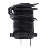 Wholesale Boat Outlet - 12V 120W Waterproof Black Motorcycle Car Auto Boat Tractor Accessory Cigarette Lighter Power Socket Plug Outlet For Any DC12V