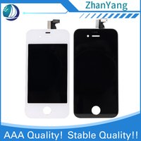 Wholesale Iphone 4s Lcd Digitizer Original - For Iphone 4 4S LCD Display touch screen With Digitizer Assembly Cold Glue Stent Good Original IC